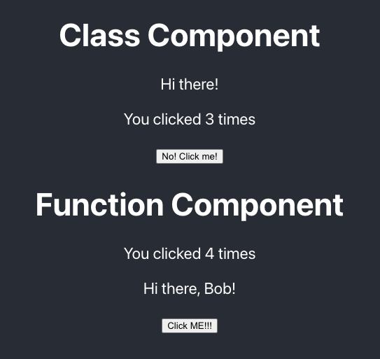 Two React Components using one global context.